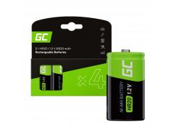 Battery 4x D R20 HR20 Ni-MH 1.2V 8000mAh Green Cell