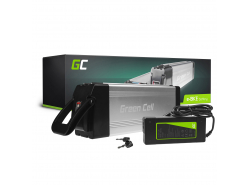 Green Cell® E-Bike Battery 24V 15Ah Li-Ion Silverfish with Charger