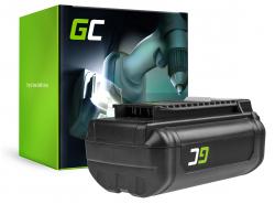 Batterie Green Cell (6Ah 36V) 5133002166 BPL3626D2 BPL3650 BPL3650D OP4026 RY36B60A for Ryobi RY40200 RY40403 RY40204 RY40210