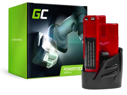Green Cell® Battery (2Ah 12V) C12 M12 B2 B3 B4 B6 RedLithium for Milwaukee BPD-0 BDD-202C BSD-0 C12HZ-0 C12MT-0 M12FID M12CDD