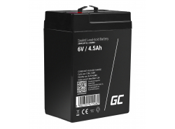 Green Cell ® Gel Batterie AGM 6V 4.5Ah