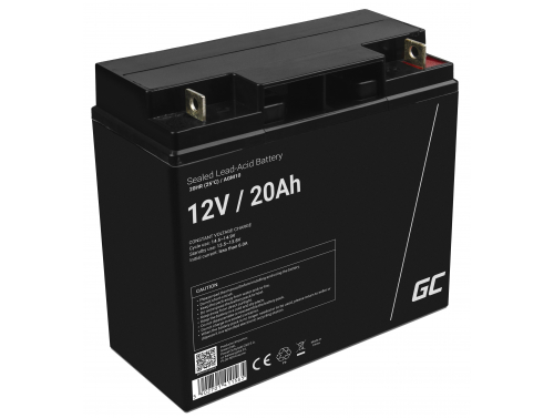 Green Cell® AGM 12V 20Ah VRLA Battery Gel deep cycle scooter mower boat barge mower tractor fishing boat