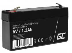 Green Cell ® Gel Battery AGM VRLA 6V 1.3Ah