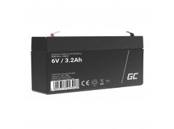 Green Cell ® Gel Battery AGM VRLA 6V 3.3Ah