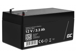 Green Cell ® Gel Battery AGM VRLA 12V 3.3Ah