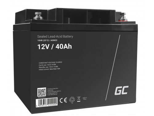 Green Cell® AGM 12V 40Ah VRLA Battery Gel deep cycle scooter mower boat barge mower tractor fishing boat