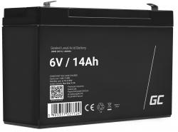 Green Cell ® Battery AGM VRLA 6V 14Ah
