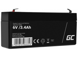 AGM Battery Lead Acid 6V 3.4Ah Maintenance Free Green Cell for scooters and a parking meter