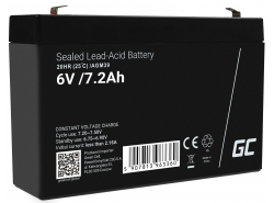 AGM Battery Lead Acid 6V 7.2Ah Maintenance Free Green Cell for lawn mower and tractor