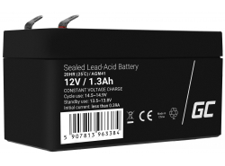 AGM Battery Lead Acid 12V 1.3Ah Maintenance Free Green Cell for electric car and scooter