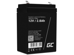 AGM Battery Lead Acid 12V 2.8Ah Maintenance Free Green Cell for gravity and alarm