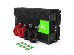 Green Cell® Car Power Inverter Converter 12V to 230V Pure sine 2000W/4000W with USB