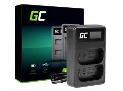 Green Cell ® dual charger LI-50C  for Olympus LI-50B, SZ-15 SZ-16 Tough 6000 8000 TG-810 TG-820 TG-830 TG-850 VR-370 XZ-1