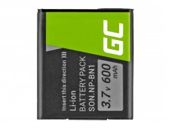 Green Cell ® Battery NP-BN1 for Sony Cyber-Shot DSC-QX10 DSC-QX100 DSC-TF1 DSC-TX10 DSC-W530 DSC-W650 DSC-W800 3.7V 630mAh