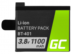 Battery Green Cell ® AHDBT-401 for cameras GoPro HD HERO 4 Silver Black Edition, Full Decoded 3.8V 1100mAh
