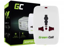 Universal Travel Adapter Green Cell ® for Electrical Outlet USA / UK / AUS / China