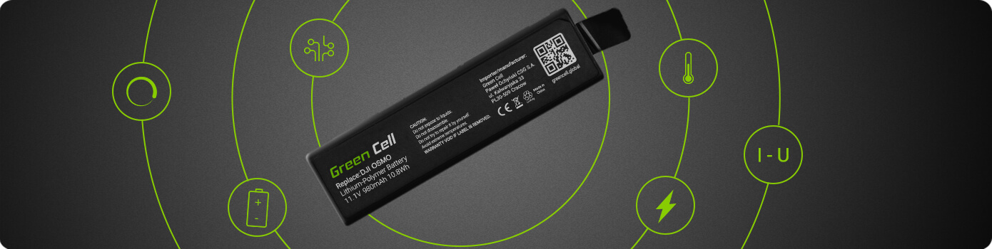 Green Cell® Battery for DJI Osmo (Li-Polymer High